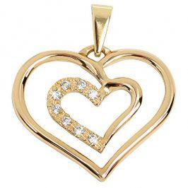 Brilio Něžný zlatý přívěsek Srdce 249 001 00432 - 1,05 g