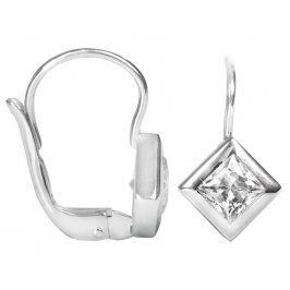 Brilio Náušnice z bílého zlata s krystaly 236 001 00977 07 - 1,75 g
