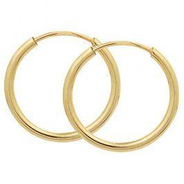 Brilio Zlaté náušnice kruhy 231 001 00333 - 0,85 g