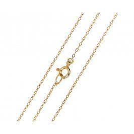 Brilio Elegantní zlatý řetízek 40 cm 271 115 00271 - 1,20 g