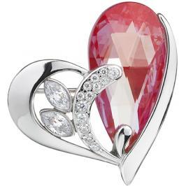 Preciosa Stříbrná brož Wild Heart Siam 6648 63