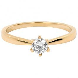 Brilio Něžný zásnubní prsten 226 001 01024 54 mm
