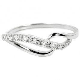 Brilio Prsten z bílého zlata s krystaly 229 001 00625 07 59 mm