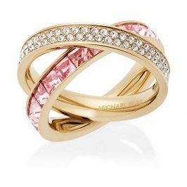 Michael Kors Dvojitý pozlacený prsten s krystaly MKJ5419710 49 mm