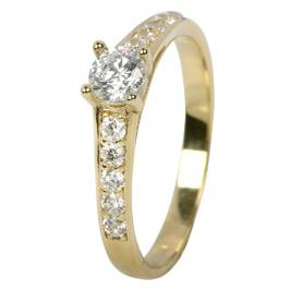 Brilio Dámský prsten s krystaly 229 001 00668 50 mm
