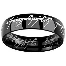 Silvego Černý ocelový prsten moci z filmu Pán prstenů RRC5623 62 mm