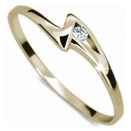 Danfil Zásnubní prsten s diamantem DF1138z 58 mm