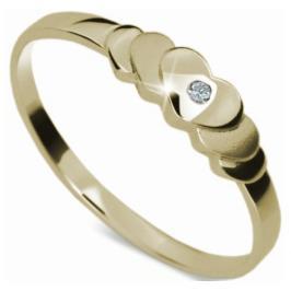 Danfil Romantický zásnubní prsten DF1876z 58 mm