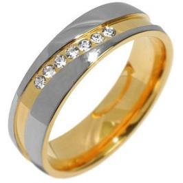 Silvego Snubní ocelový prsten pro ženy MARIAGE RRC2050-Z 61 mm