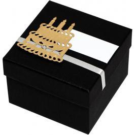 Giftisimo Luxusní dárková krabička se zlatým dortem GF0002