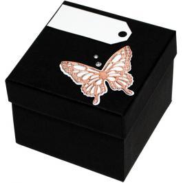 Giftisimo Luxusní dárková krabička s bronzovým motýlkem GF0004