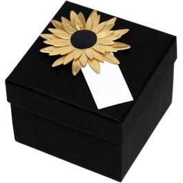 Giftisimo Luxusní dárková krabička se zlatou slunečnicí GF0007