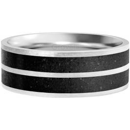 Gravelli Betonový prsten Fusion Double line ocelová/antracitová GJRWSSA112 56 mm