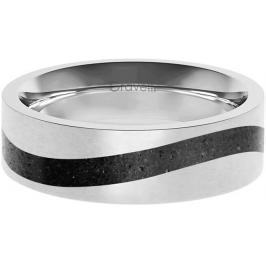 Gravelli Betonový prsten Curve ocelová/antracitová GJRWSSA113 50 mm