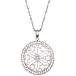 Preciosa Ocelový náhrdelník s krystaly Rosette 7238 00