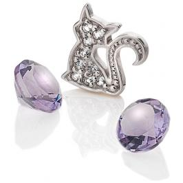 Hot Diamonds Element Kočka s ametysty Anais EX218