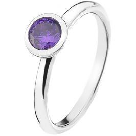 Hot Diamonds Stříbrný prsten Emozioni Scintilla Violet Spirituality ER021 51 mm