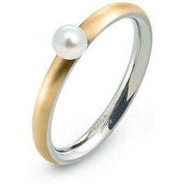 Boccia Titanium Pozlacený titanový prsten s perličkou 0145-02 57 mm