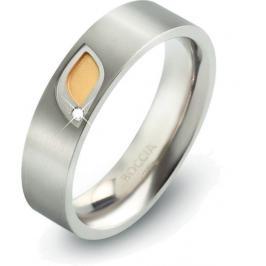 Boccia Titanium Titanový prsten s briliantem 0146-01 59 mm
