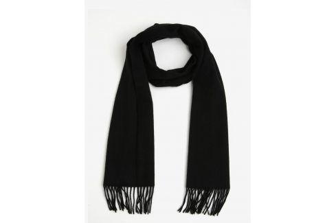 Černá vlněná šála Selected Homme Tope čepice, šály, rukavice