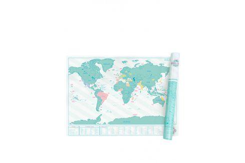 Velká nástěnná stírací mapa Luckies Hello Edition mapy a omalovánky