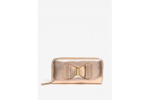 Peněženka s mašlí v růžovozlaté barvě LYDC Peněženky