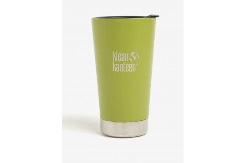 Zelený nerezový termohrnek Klean Kanteen Insulated Tumbler pití a jídlo s sebou