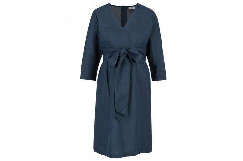 Tmavě modré  těhotenské šaty s páskem Mama.licious Vintage Móda pro těhotné