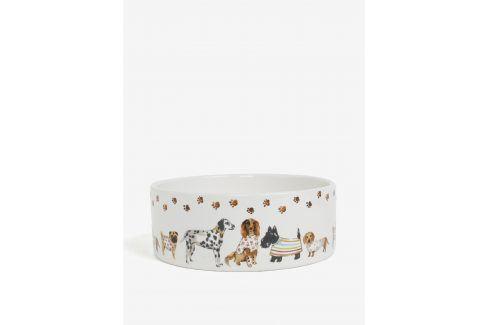 Krémová velká vzorovaná miska pro psy Cooksmart misky a talíře