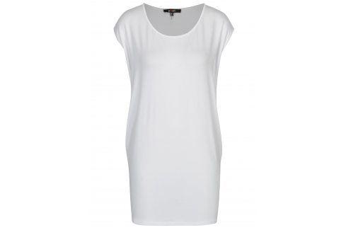 Bílé volné tričko Yest trička s krátkým rukávem