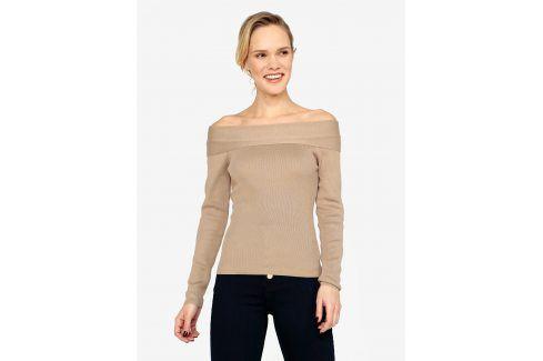 Béžový svetr s odhalenými rameny MISSGUIDED Móda pro ženy