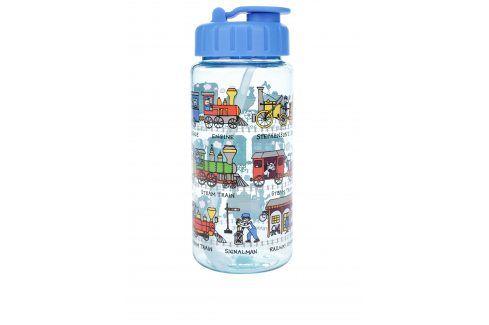 Modrá klučičí lahev na pití Tyrrell Katz Trains pití a jídlo s sebou