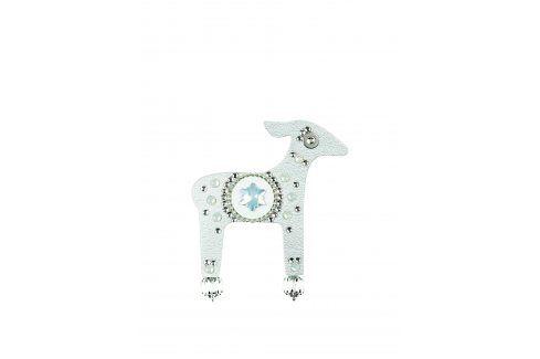 Brož laň ve stříbrné barvě s komponenty Swarovski Crystals Deers ostatní