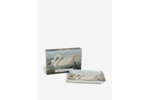 Krémová porcelánová miska s labutí Magpie Swan misky a talíře