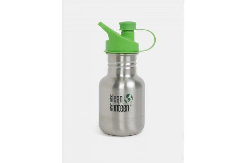 Dětská nerezová lahev ve stříbrné barvě Klean Kanteen 355 ml pití a jídlo s sebou