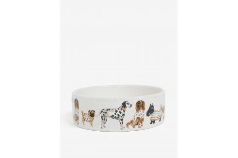 Krémová vzorovaná miska pro psy Cooksmart misky a talíře