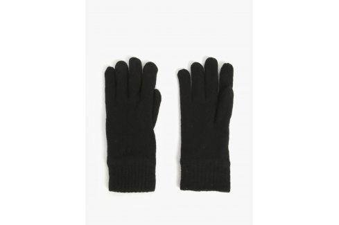 Černé pánské  vlněné rukavice GANT čepice, šály, rukavice