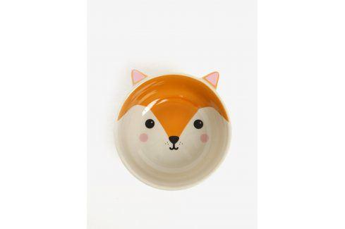 Oranžová miska ve tvaru lišky Sass & Belle misky a talíře