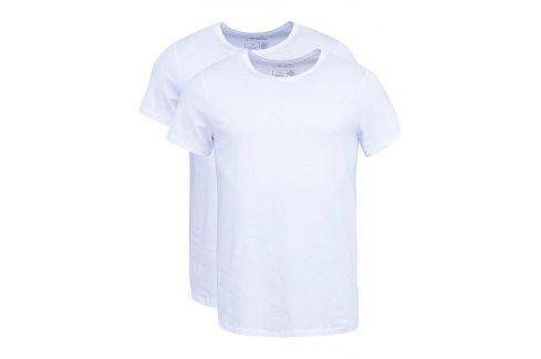 Sada dvou slim fit trik pod košili v bílé barvě s kulatým výstřihem Blend trika pod košile