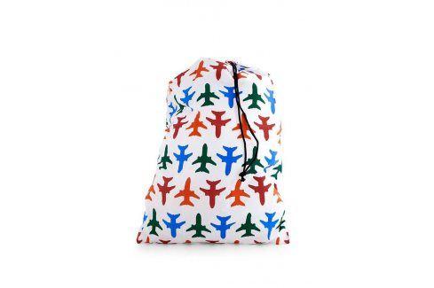 Bílý cestovní pytel na prádlo Kikkerland Letadla Dárky a hračky