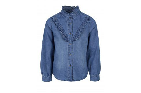 Modrá džínová holčičí košile s dlouhým rukávem Name it Awanal Halenky