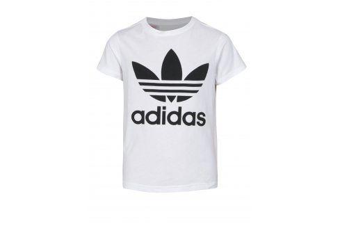 Bílé klučičí tričko s potiskem adidas Originals trička s krátkým rukávem