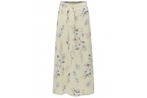 Žlutá květovaná maxi sukně Dorothy Perkins Petite Dlouhé