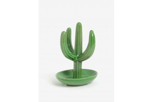 Zelený stojan na šperky ve tvaru kaktusu SIFCON Doplňky do bytu