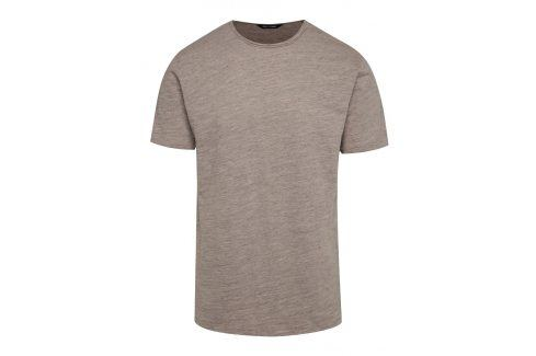 Béžové žíhané tričko ONLY & SONS Albert trika s krátkým rukávem