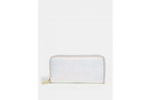 Metalická peněženka ve stříbrné barvě Anna Smith Peněženky