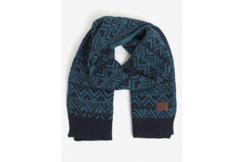 Modrá vzorovaná šála s příměsí vlny O'Neill čepice, šály, rukavice