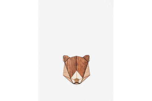 Dřevěná brož ve tvaru medvěda BeWooden Bear Brooch ostatní