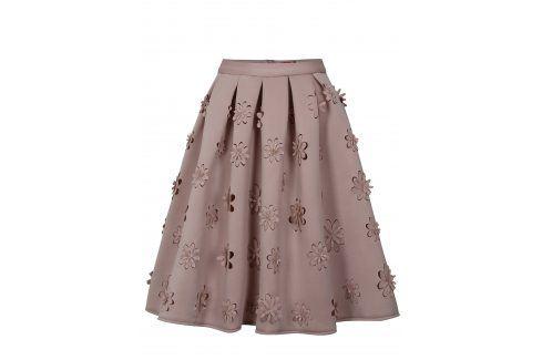 Starorůžová sukně Chi Chi London Jasmina Polodlouhé, ke kolenům