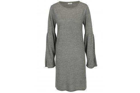 Šedé šaty s rozšířeným rukávem Jacqueline de Yong Stardust šaty na denní nošení